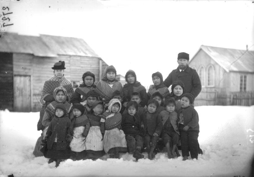 Orphelins de la mission protestante anglaise à Ouchouaya
