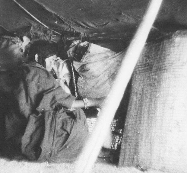 Intérieur d'une tente touareg
