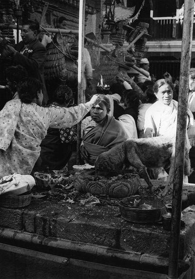 Autel du temple de Lokesvar à Chobar