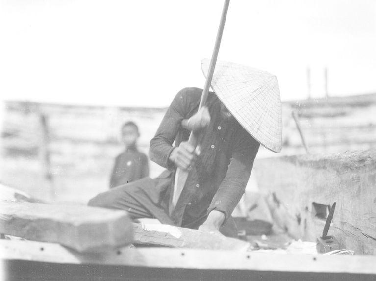 Chantier de construction des jonques