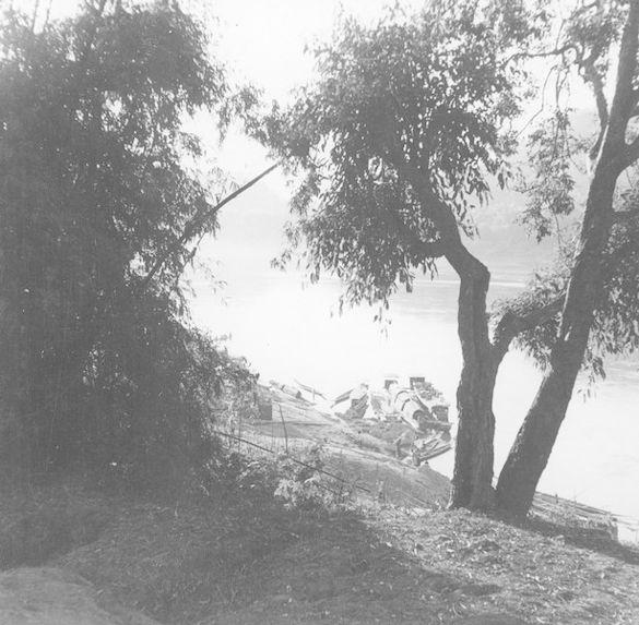 Confluent de la Nam-Khan et du Mékong