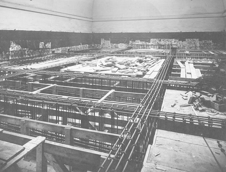 Salle B15 en construction