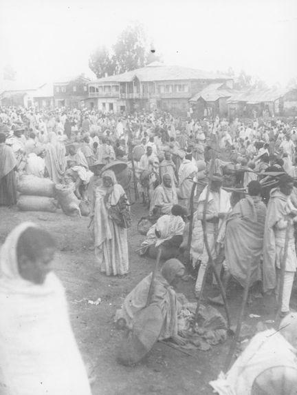 Le marché d'Addis Abeba