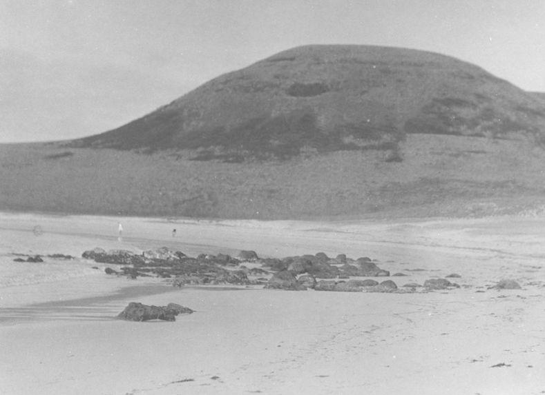 Vue de la baie d'Anakena