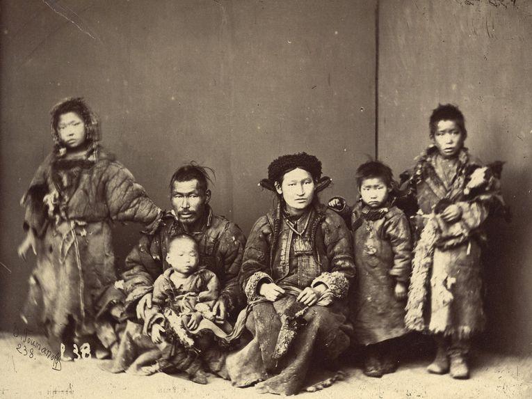 Famille Bouriate pauvre