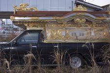 Traditional funeral carriage, Namie, Fukushima