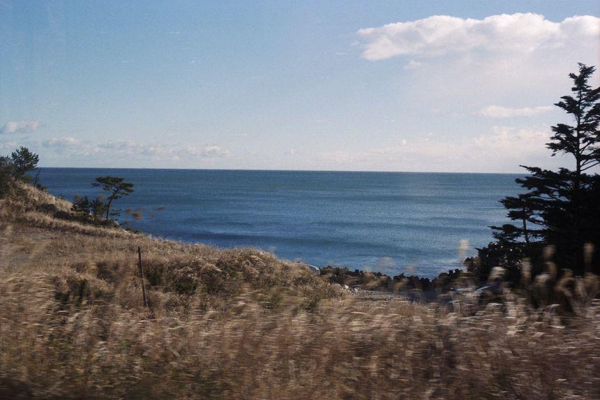 View of the Fukushima sea, in the way to Tomioka, Fukushima