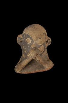 Fragment de poterie zoomorphe : singe