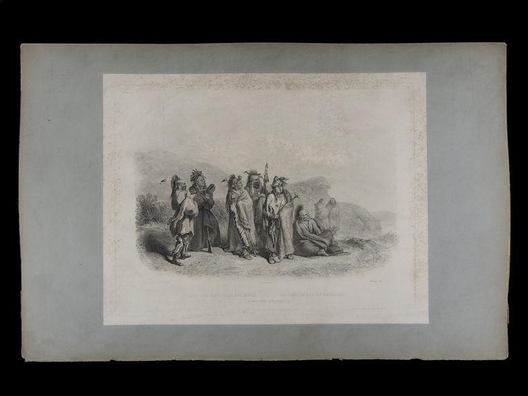 Saki und Musquake Indianer. Indiens Sakis et renards