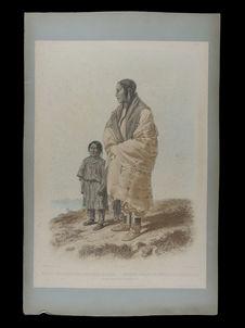 Dacota Indianerin und Assiniboin mädchen. Indienne Dacota et jeune fille...