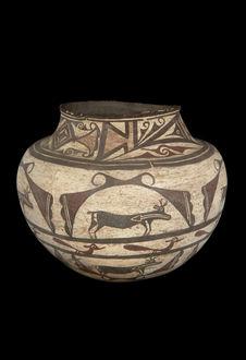 Pot à décor zoomorphe