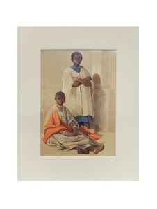 Jeune prince du pays de Galam et son captif en otages à Saint-Louis (Sénégal)