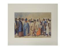Habitants de Saint-Louis en costume de fête (Sénégal)