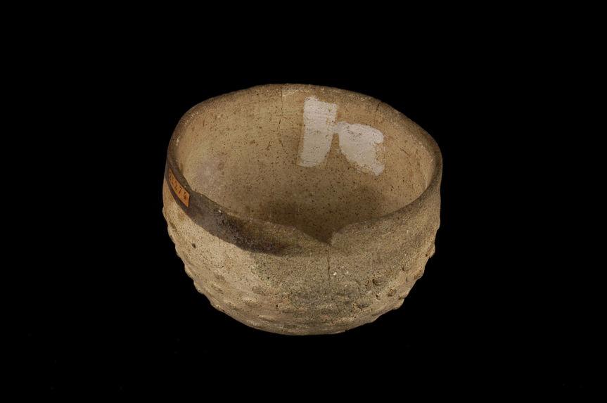 Coupe hémisphérique en céramique beige
