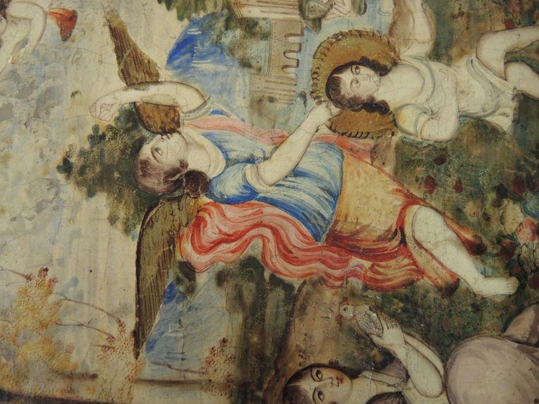 Grand panneau aux scènes chrétiennes