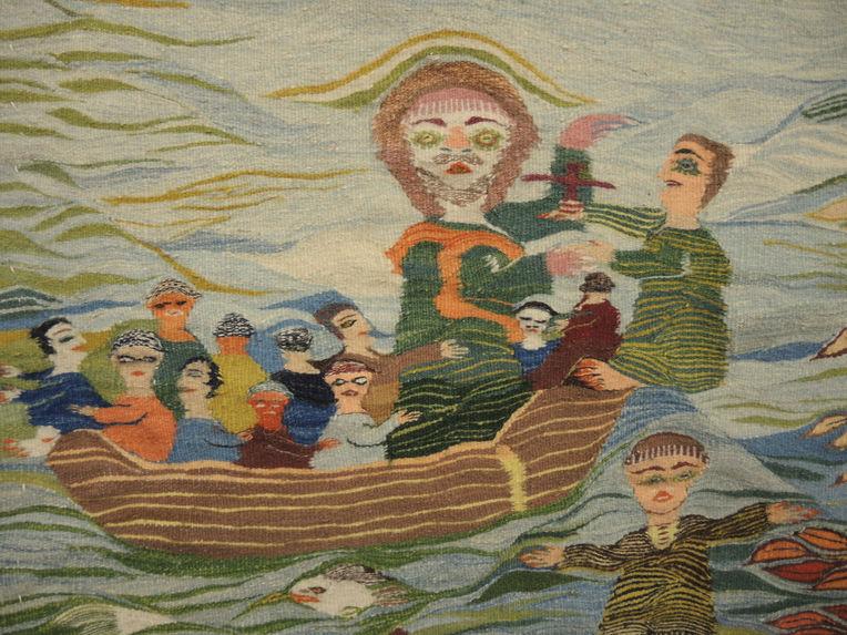 Tapisserie représentant Saint Pierre marchant sur les eaux