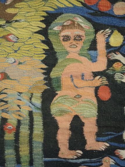 Tapisserie représentant Adam et Eve