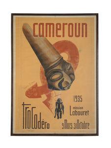 Affiche pour l'exposition « Cameroun. Mission Labouret » au musée d'ethnographie...