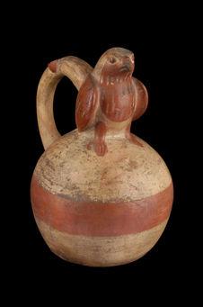 Vase à décor zoomorphe : oiseau