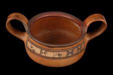 Vase polychrome à deux anses