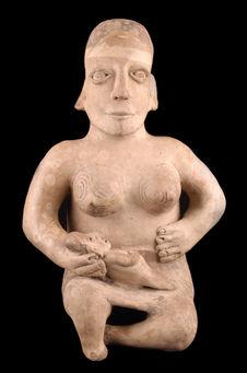 Statuette anthropomorphe : maternité