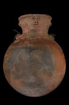Vase à col céphalomorphe