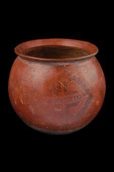 Pot à décor géométrique