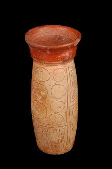 Vase cylindrique à col céphalomorphe