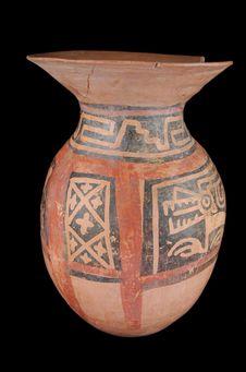 Vase à décor géométrique et zoomorphe