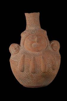 Vase à décor anthropo-phytomorphe