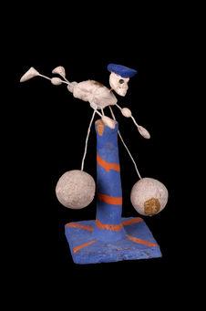 Miniature : squelette sur pivot