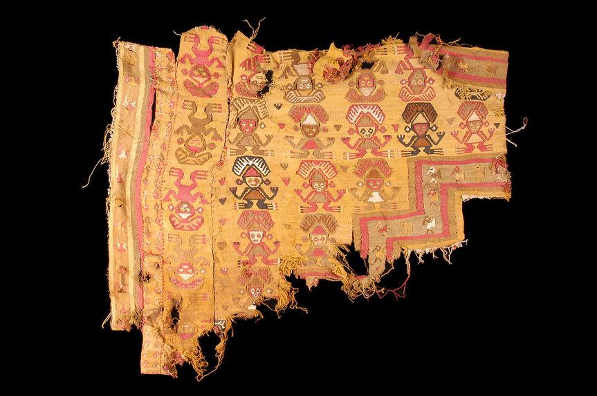 Fragment de tissu à décor anthropomorphe