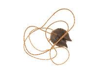 Collier avec pendentif en graine