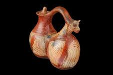 Vase à fragment zoomorphe