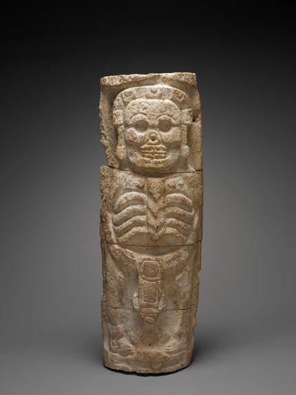 Sculpture représentant Ah-Puch, dieu de la mort