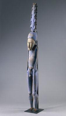 Sculpture anthropomorphe (dite l'homme bleu)