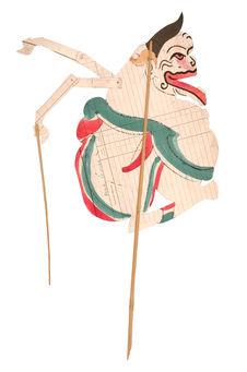 """Figure de """"wayang"""" : Prabu Semar"""