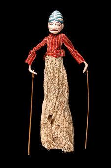 "Marionnette de ""wayang golek"" : Abiasa"