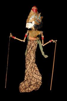 "Marionnette de ""wayang golek"" : Râma"