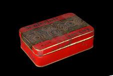 Boîte avec échantillon d'amadou