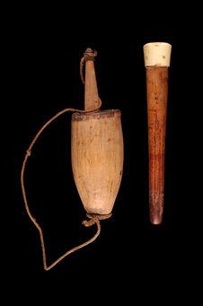 Mortier, pilon et spatule à chaux