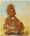 Portrait de Wa-ta-we-buck-a-na (Général Commandant)
