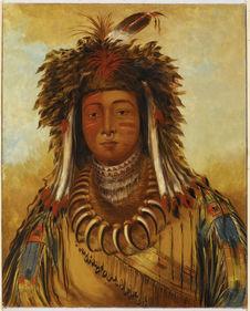 Portrait de Maun-gua-daus (Grand Héros), chef Ojibwa