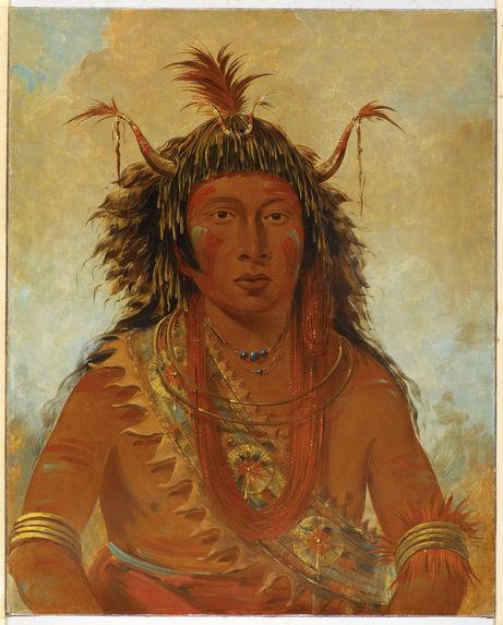 Portrait de Say-say-Gon (Orage de grêle), chef de guerre des Ojibwa