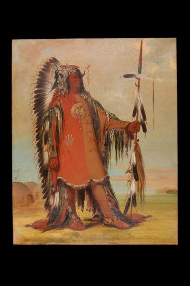 Portrait de Mah-To-Toh-Pa (Les quatre Ours), chef des Mandans