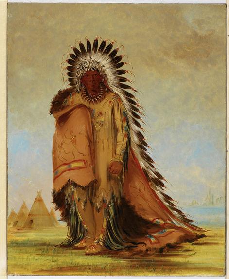 Portrait de Wan-ee-ton, chef des Susseton, Bande des Sioux