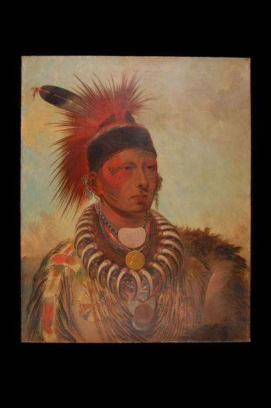 Portrait de Mu-ho-she-kaw (Nuage blanc), chef des Iowa du Missouri
