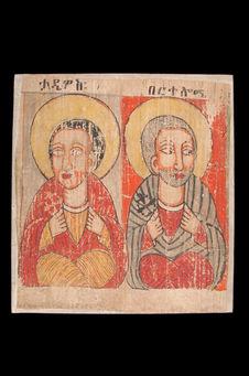 Peinture de l'église Abba Antonios - Deux apôtres