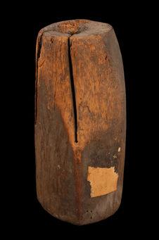 Tambour de bois à langue unique