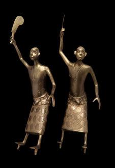 Paire de statuettes masculines
